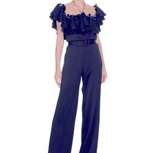 PUCCI - Black jumpsuit w/ sequins crystals